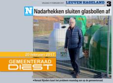 N-VA Diest: nadarhekken sluiten glasbollen af (Het Nieuwsblad 17.02.2017)