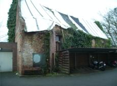 Het huidige dak van de Infirmerie Park Cerckel