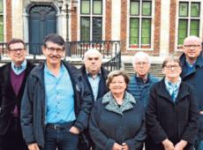 Kopman Nijs (tweede van links) en de N-VA-ploeg. (foto: VDWT)