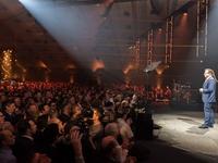 Heel veel volk op de Nieuwjaarsreceptie van N-VA in de Nekkerhal in Mechelen.